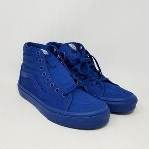 Vans Sk8-Hi Mono Blue Sneakers Men's Size 5.5
